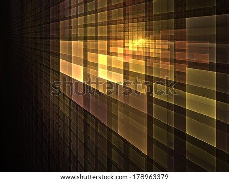 Pattern of golden light � abstract illustration for subjects such as computing & technology - stock photo