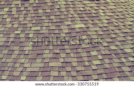 Pattern of green and brown marble stone roof  background processed in vintage style - stock photo