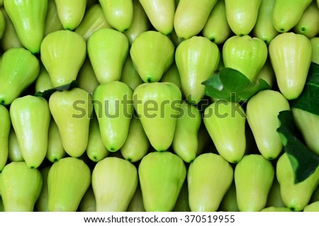 pattern of green rose apple -- texture