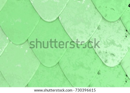 Pattern of green rounded roof tiles. Abstract shingles background. 3D rendering illustration  sc 1 st  Shutterstock & Rounded Roof Stock Images Royalty-Free Images u0026 Vectors ... memphite.com