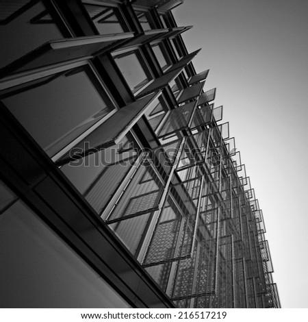 Pattern of industrial windows  - stock photo