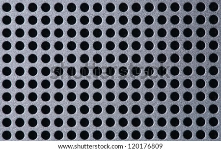Pattern of metal mesh, dot background	 - stock photo