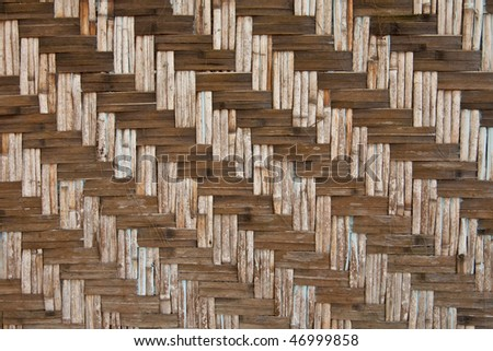 Pattern of native Thai style bamboo hut wall