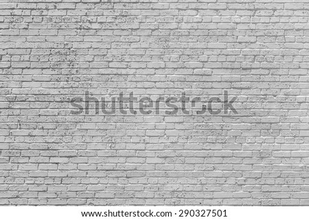pattern of old historic brick wall in white - stock photo