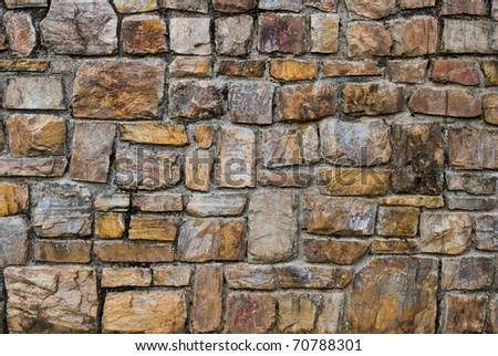 Pattern of old stone Wall Surfaced - stock photo