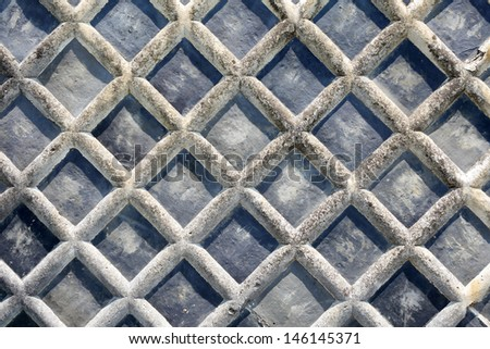 Pattern of old traditional wall in Japan