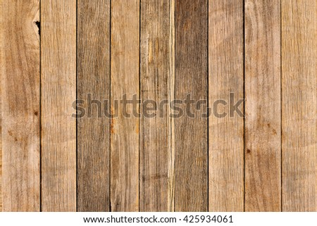 Pattern of Old wood Texture background, Row arrangement - stock photo