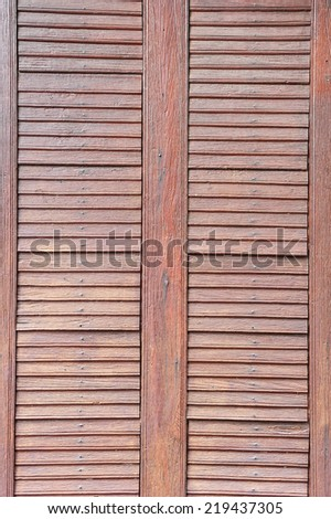 Pattern of old wood window. - stock photo