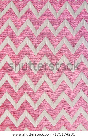 Pattern of pink and white striped silk glides