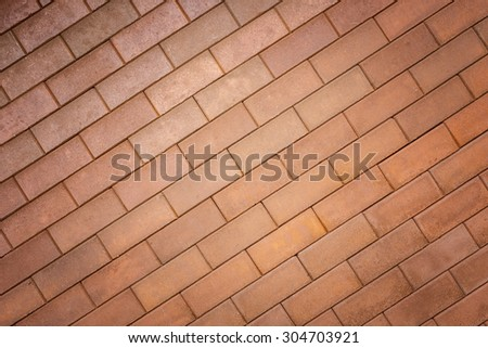 Pattern of red brick wall texture and background