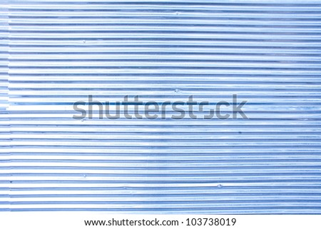 pattern of rustic zinc fence in blue color - stock photo