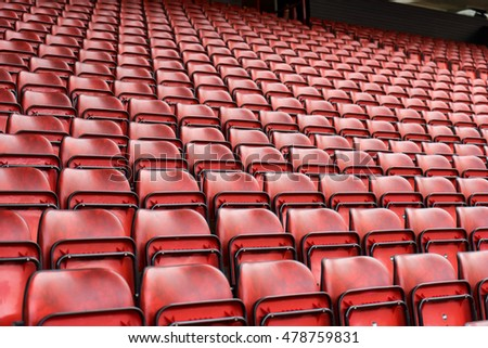 Pattern of Seats at the sport stadium