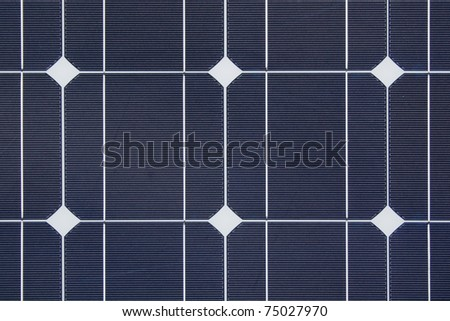 pattern of solar cell - stock photo