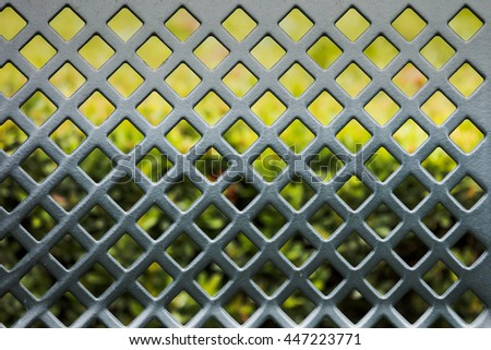 pattern of Steel grating - stock photo