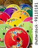 Pattern of thai colorful umbrellas - stock photo