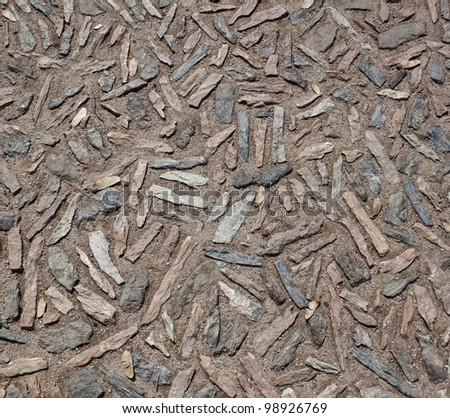 Pattern of the brick floor surface - stock photo