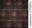 Pattern of tiles of a beautiful carved floral work - stock photo