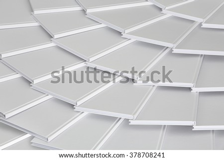 pattern of white books