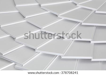 pattern of white books  - stock photo