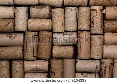 Pattern of wine corks - stock photo