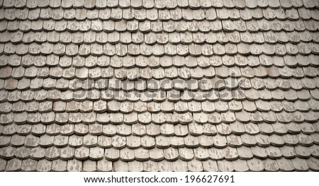 Pattern of wooden roof of old house. - stock photo