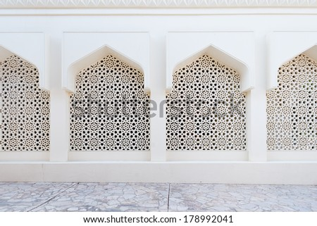Pattern on a mosque in Dubai, UAE - stock photo