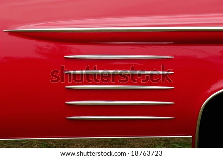 Pattern on a old american car - stock photo