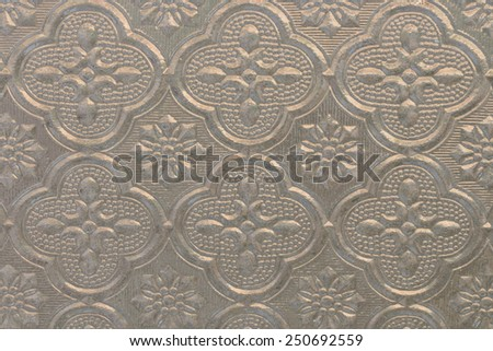 Pattern on Background corrugated silver glass - stock photo