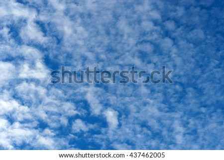 pattern on Blue sky with clouds in the sky, clear air from the building's natural looks beautiful cloud in the sky.