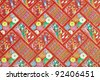 Pattern on the wrapper of the Japanese. - stock photo