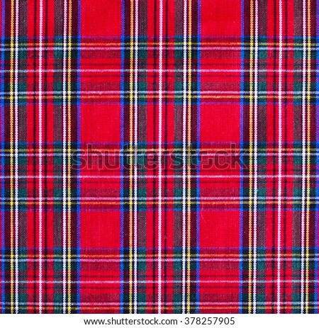Pattern picnic tablecloth background - stock photo