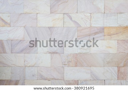 Pattern red sandstone wall texture and background - stock photo