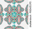 pattern seamless with ornament - stock photo