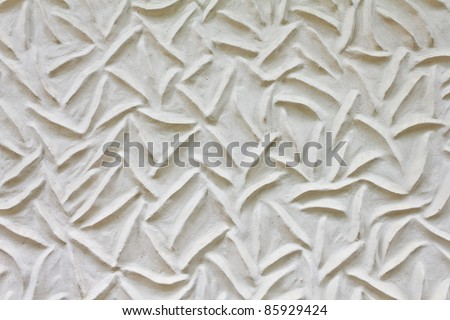 Pattern style on temple wall in Thailand - stock photo