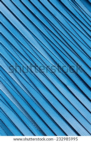 Pattern surface of blue nylon tape seat