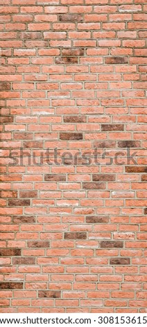 Pattern Vintage Color Texture of Modern Style Design Decorative brick wall surface with cement  for Construction Work - stock photo
