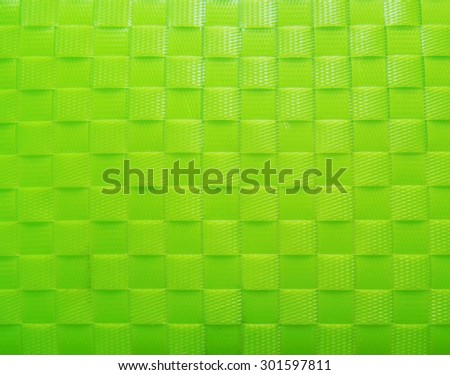 pattern weave green plastic background texture - stock photo