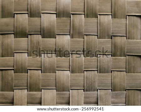Pattern weaving of banana leaves - stock photo