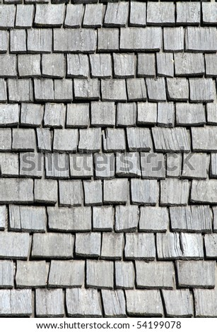 Pattern - Wooden Shingles - stock photo