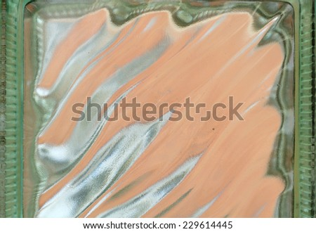 Patterned Glass Close-Up - stock photo