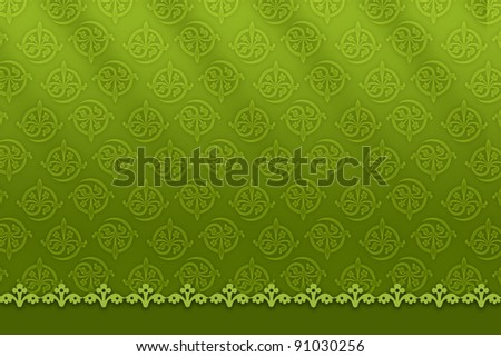 patterned green background - stock photo