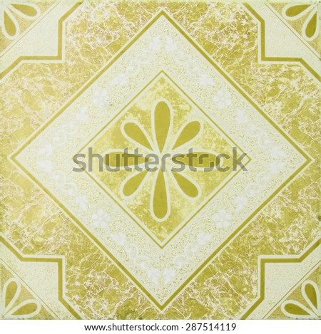 Patterned marble floor. - stock photo