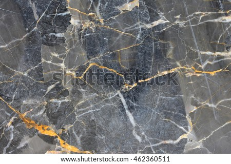 Patterned natural of Dark gray marble (Gold Russia) texture for design. Abstract background.