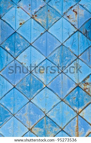 patterned textured background in blue diamond shape - stock photo