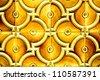 Patterned tile background - stock photo