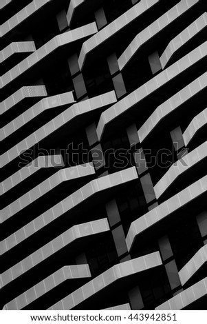 Striped Awnings Restaurant Stock Photo 102121450