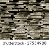 Patterns and textures of stacked wood planks. - stock photo