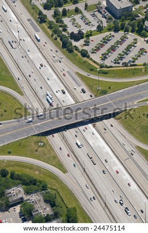Patterns found in contemporary American transport systems. - stock photo