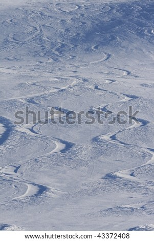 Patterns in the Snow - stock photo