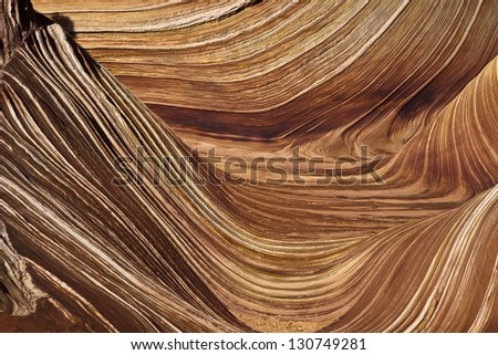 Patterns in the Wave - stock photo